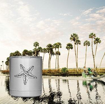 Custom YETI coastal design cups