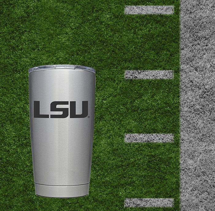Custom YETI collegiate logo cups
