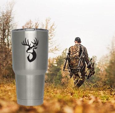Custom YETI hunting design cups