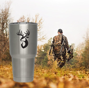 Custom YETI hunting design cups